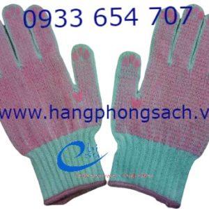 Găng tay len phủ hạt cao su